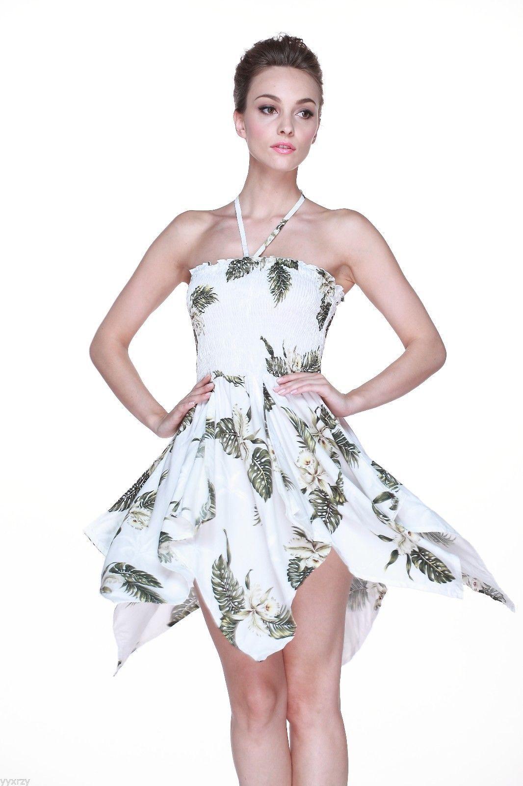 Palm Beach Wedding Dress : Tropical hawaiian luau wedding dress cruise pool gypsy