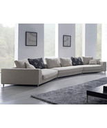 Contemporary Off White Fabric Sectional Sofa with Pillows. Model: ANM9721 - $1,995.00