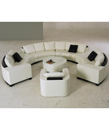 Contemporary Rounded Sectional Sofa with Center Table and Stand Alone Ch... - $3,995.00