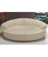 Modern Black or White Circle Sectional Sofa Set with Table. Model: LF-67... - $2,499.00