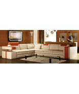 Vista Modern Italian Design Leather Sectional Sofa. Model: CP-9001-CO - $2,595.00