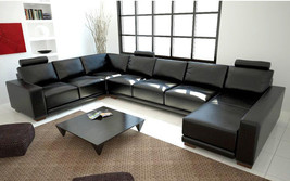 Modern Black Sectional Sofa. Model: LF-1001 - $2,345.00