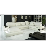 Modern Ivory Italian Design Leather Sectional Sofa. Model: CP-1692 - $2,595.00