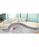 Modern Style Curved Leather Sectional Sofa 4 Pieces. Model: LF-4522-WH - $2,499.00