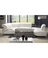 Modern White Wrap-Around Design Leather Sectional Sofa. Model: LF-401 - $2,998.00