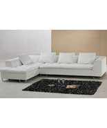 White Leather Sectional Sofa with Pillow Top Design. Model: FY632 - $1,798.00