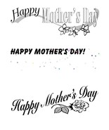 Happy Mother's Day1r-Digital Download-ClipArt-A... - $3.85