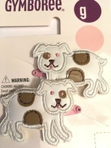 Gymboree Puppy Love Line Barrette Clip Snap NWT Dog White W/ Pink Metal Vintage - $14.95