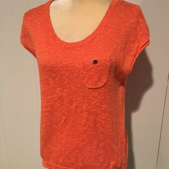 Primary image for LOFT Orange Short Sleeve Sweater, Womens Size XS