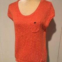 LOFT Orange Short Sleeve Sweater, Womens Size XS - $8.75