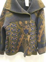 Women Etro Milano Wool Blend Graphic Cardigan Sweater Jacket 40 Made in Italy image 2