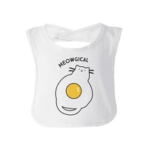 Meowgical Cat And Fried Egg Baby White Bib - $9.99