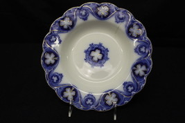"Vintage Johnson Brothers Flow Blue SAVOY Pattern Gold Shamrock 10"" Bowl,... - $79.99"
