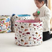 FULLLOVE® 40*32cm Dirty Clothes Laundry Basket Cartoon Animals Printed B... - $24.84