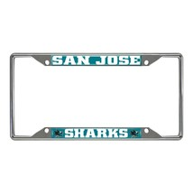 Fanmats NHL San Jose Sharks Chrome Metal License Plate Frame Delivery 2-4 Days - $14.60