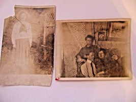 Antique Post Card Photograph Black & White-Display Crafts-Prop - $6.00