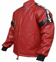 Mens Smokey and The Bandit Red Bomber Leather Jacket image 3