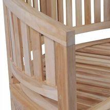 vidaXL Solid Teak Wood Bench Banana Shape 2-Seater Outdoor Garden Chair Seat image 5
