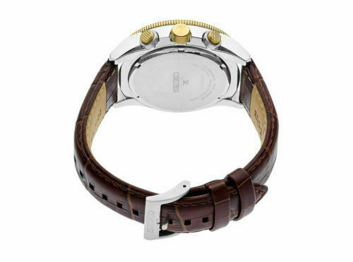 Seiko Men's Prospex Solar Pilots Leather Strap Watch SSC632