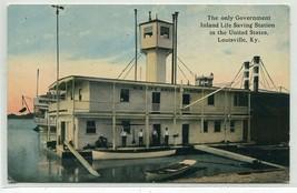 Government Inland Life Saving Station Louisville Kentucky 1910c postcard - $6.88