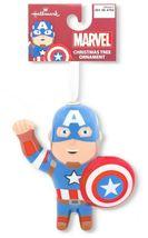Hallmark Marvel Captain America Decoupage Shatterproof Christmas Tree Ornament image 3
