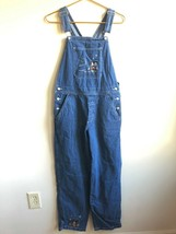 Vtg 90s Disney Store S Mickey Minnie Mouse Ice Skate 100% Cotton Denim Overalls - $49.40