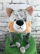 Wolf Boys One Sz Hat Gray Silver Faux Fur Animal Theme Trapper Warm Wint... - $14.84