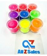 Rikonka 9 Color Set Neon Pigment Powder DIY Gel Manicure Nail Art - Sealed - $19.75