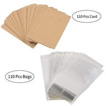 Wicket 110 Pcs Earring Cards,Earring Card Holder,3.5inch x2.4inch Kraft ... - $14.78