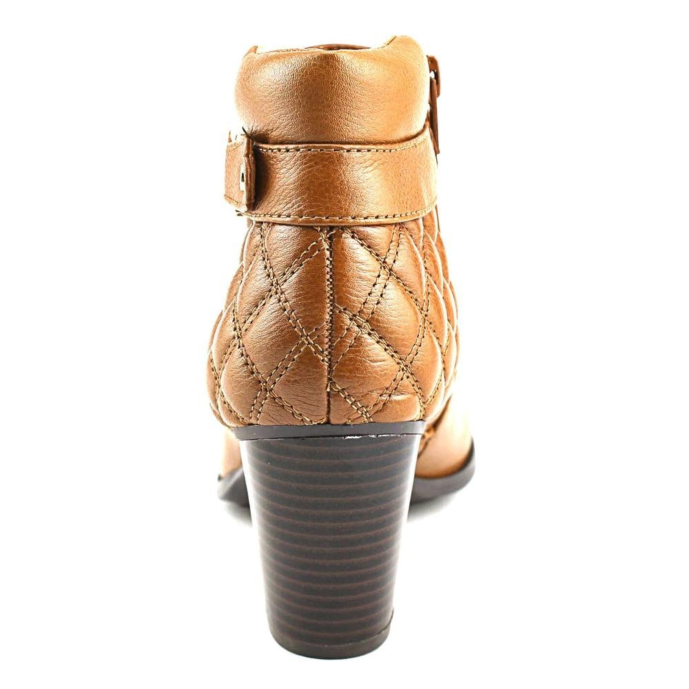 Alfani Wakefeld Women Pointed Toe Leather Brown Bootie, Nut, Size 6.5