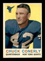 VINTAGE NFL 1959 Topps #65 Charley Conerly  EXMT - $17.79