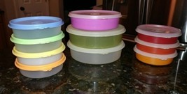 20pc Tupperware Impressions Wonder Bowls #1286 #1405 #1551 6-12-16oz w lids - $29.35