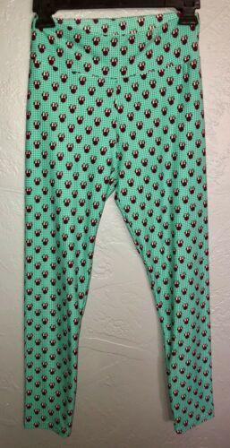 LuLaRoe Disney Minnie Mouse Green Leggings Women's OS One Size (2-10) NEW.  N8