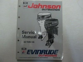 1993 Johnson Evinrude Outboards 40 Thru 55 Service Repair Shop Manual FE... - $98.95