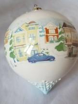 Hallmark Ceramic Glass Ball Christmas On Main Street Ornament 2008 - $14.99
