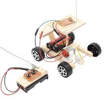 DIY Wireless Remote Control Model Kit Wood Toy Set RC Car Educational Toy - $8.90