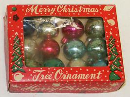 "Vintage 1"" Mini Glass Christmas Ornaments IOB #6a  - Japan - $12.00"