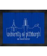 University of Pittaburgh 13 x 16 Uscape with Retro Skyline Framed Print  - $39.95