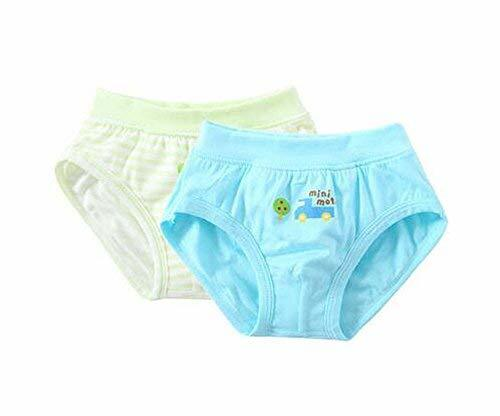 PANDA SUPERSTORE 2 Pieces Breathable Soft Babies Underwear Panties, Blue Green,