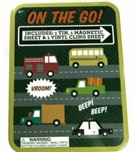 On The Go! Includes 1 Tin, 1 Magnetic Sheet & Vinyl Cling Sheet Kids Board Game