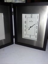 Bulova Winfield Picture Frame Clock Espresso Brown Finish - $8.91