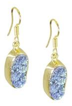 Multi Gold Plated Fashion cute Druzy jaipur Earring AU gift - $9.84