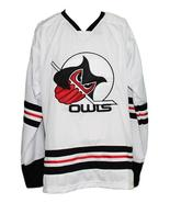 Custom Name # Columbus Owls Retro Hockey Jersey New White Any Size - $54.99+