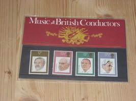Commemorative Stamp Set:  Music - British Conductors   1980 - $3.15