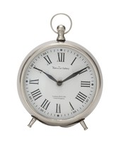 "Deco 79 40681 Well-Made Metal Table Clock, 6"" W x 7"" H - $52.02"