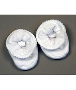 White Baby Booties Size 0-9 Months - $10.00