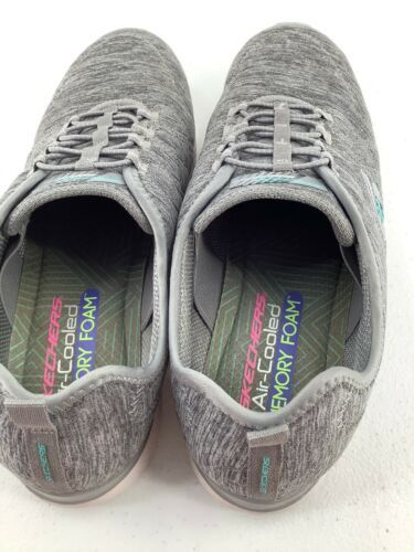 Skechers 9.5 Shoes Air Cooled Memory Foam SN23315 Grey Athletic image 5