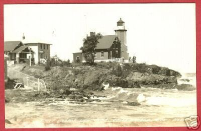 Primary image for Eagle Harbor MI Postcard Lighthouse Michigan RPPC BJs