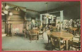 Marquette Mi City Library Interior Tables Postcard BJs - $12.50