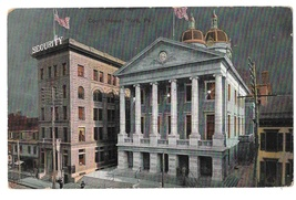 York PA Court House Security Building Night Vintage P Wiest's Sons Postcard 1907 - $12.49